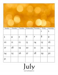 July 2016 Photo Calendar