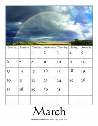 March 2016 Photo Calendar