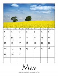 May 2016 Photo Calendar