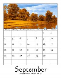 September 2016 Photo Calendar