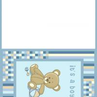 Printable A Baby Boy Bear - Printable Baby Cards - Free Printable Cards