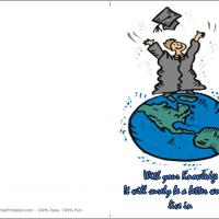 Printable A Better World To Live In - Printable Graduation Cards - Free Printable Cards