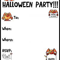 Printable A Halloween Devil Party - Printable Party Invitation Cards - Free Printable Invitations