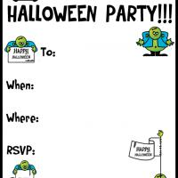 Printable A Halloween Goblin Party - Printable Party Invitation Cards - Free Printable Invitations