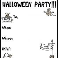 Printable A Halloween Mummy Party - Printable Party Invitation Cards - Free Printable Invitations
