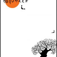 Printable A Halloween Night Stationary - Printable Stationary - Free Printable Activities