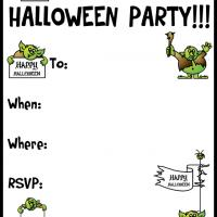 Printable A Halloween Troll Party - Printable Party Invitation Cards - Free Printable Invitations