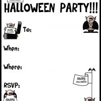 Printable A Halloween Vampire Party - Printable Party Invitation Cards - Free Printable Invitations