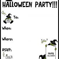 Printable A Halloween Witchy Party - Printable Party Invitation Cards - Free Printable Invitations