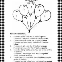 Printable A Lesson in Following Directions - Printable Classroom Lessons - Free Printable Lessons