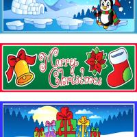 A Merry Christmas Bookmarks Set