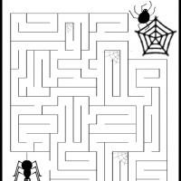 Printable A Spider Maze - Printable Mazes - Free Printable Games