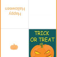 Printable A Trick or Treat Halloween Pumpkin Card - Printable Greeting Cards - Free Printable Cards
