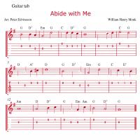 Printable Abide With Me Guitar Music Sheet - Printable Guitar Music - Free Printable Music