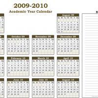 Academic Calendar 2009-2010