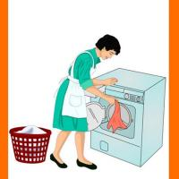 Printable Actions- Doing Laundry - Printable Flash Cards - Free Printable Lessons