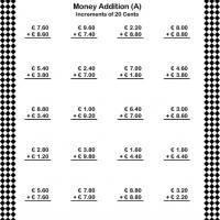 Printable Add Money in Increments of 20 Cents - Printable Classroom Lessons - Free Printable Lessons