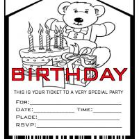 Admit One Birthday Party Invite Envelope