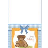 Printable Adorable Teddy Bear Birthday Card - Printable Birthday Cards - Free Printable Cards