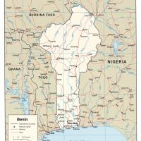 Africa- Benin Political Map