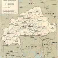 Africa- Burkina Political Map