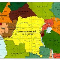 Africa- Central African Republic Political Map