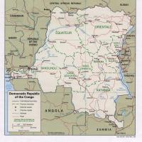 Africa- Democratic Republic of Congo Political Map