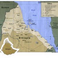 Africa- Eritrea Political Map