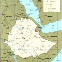 Africa- Ethiopia Political Map
