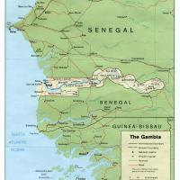 Printable Africa- Gambia Political Map - Printable Maps - Misc Printables