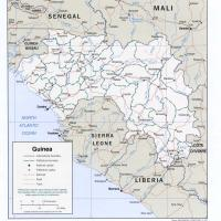 Africa- Guinea Political Map