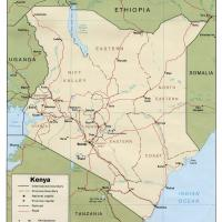Africa- Kenya Political Map