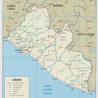 Africa- Liberia Political Map