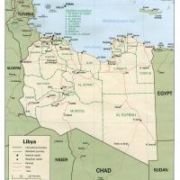 Africa- Libya Political Map