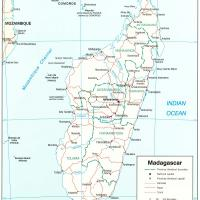 Africa- Madagascar Political Map