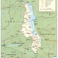 Printable Africa- Malawi Political Map - Printable Maps - Misc Printables