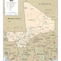 Printable Africa- Mali Political Map - Printable Maps - Misc Printables
