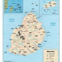 Africa- Mauritius Political Map