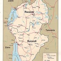 Africa- Rwanda Political Map