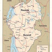 Africa- Rwanda Political Map