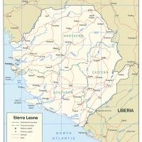 Africa- Sierra Leone Political Map