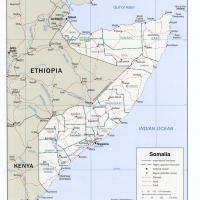 Africa- Somalia Political Map