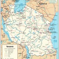 Africa- Tanzania Political Map