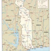 Printable Africa- Togo Political Map - Printable Maps - Misc Printables