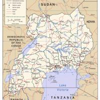 Printable Africa- Uganda Political Map - Printable Maps - Misc Printables
