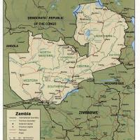Africa- Zambia Political Map