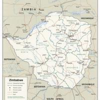 Africa- Zimbabwe Political Map