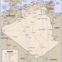 Africa- Algeria Political Map