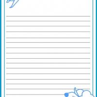 Printable Airplane Stationary - Printable Stationary - Free Printable Activities
