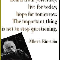 Albert Einstein Not to Stop Questioning Quote